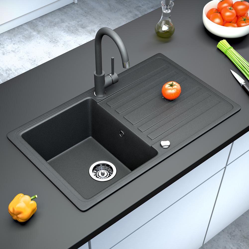 bergstroem vier de cuisine en granit encastr r versible. Black Bedroom Furniture Sets. Home Design Ideas