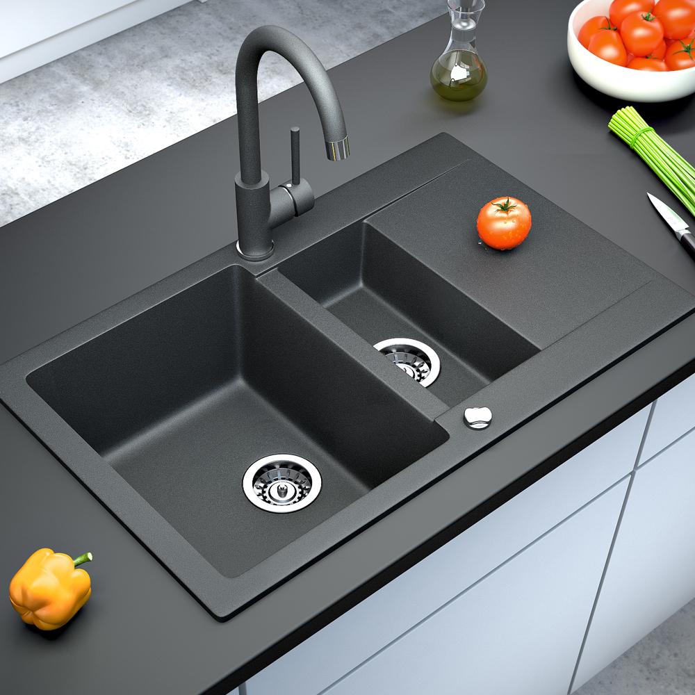 Bergstroem granito fregadero cocina desag e lavadero - Fregadero de granito ...