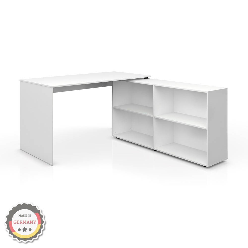 table ordinateur bureau bureau en coin bureau d 39 angle blanc ebay. Black Bedroom Furniture Sets. Home Design Ideas