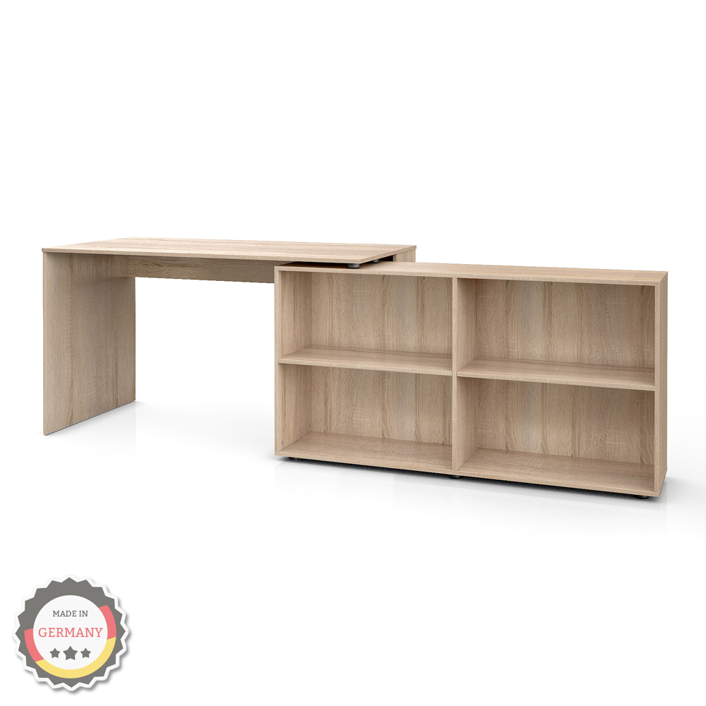 table ordinateur bureau bureau en coin bureau d 39 angle ch ne sonoma. Black Bedroom Furniture Sets. Home Design Ideas