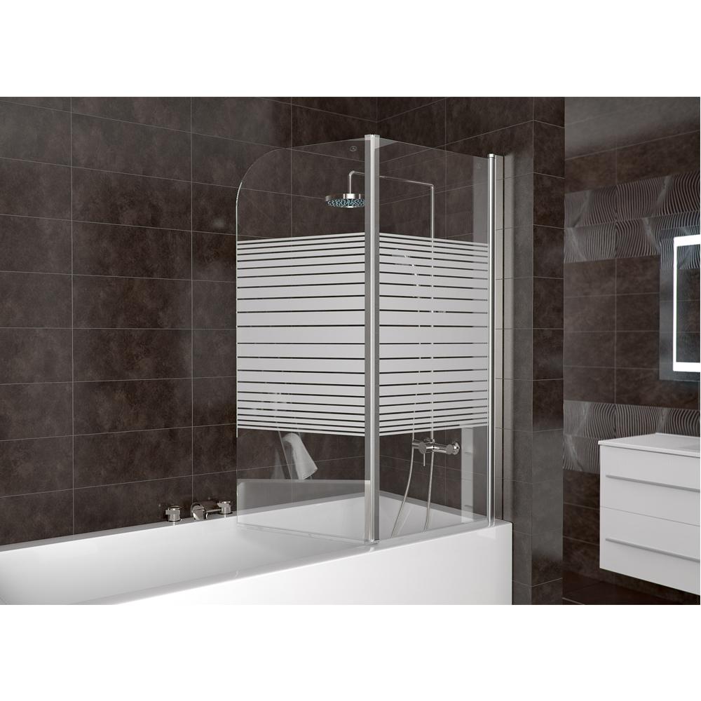 Box doccia vasca parete doccia in vetro tende pieghevoli doccia a strisce destra - Vetro doccia per vasca ...