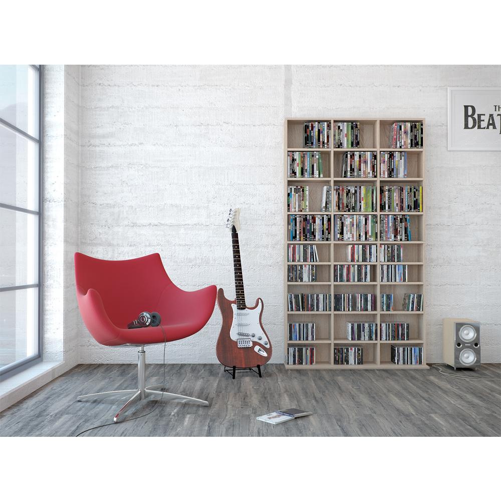 shelf cd rack archiving 1080 cds 504dvds media regal room divider archive sonoma ebay. Black Bedroom Furniture Sets. Home Design Ideas