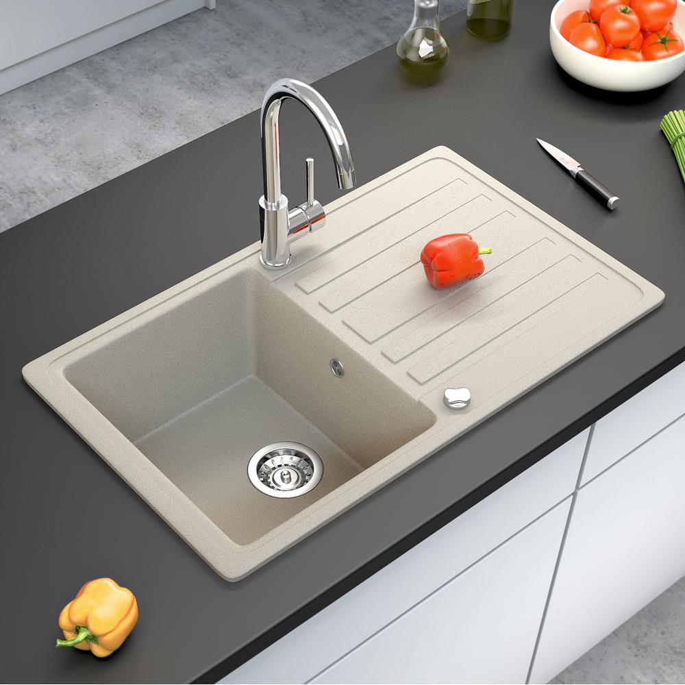 bergstroem vier de cuisine en granit encastr r versible 765x460 beige ebay. Black Bedroom Furniture Sets. Home Design Ideas