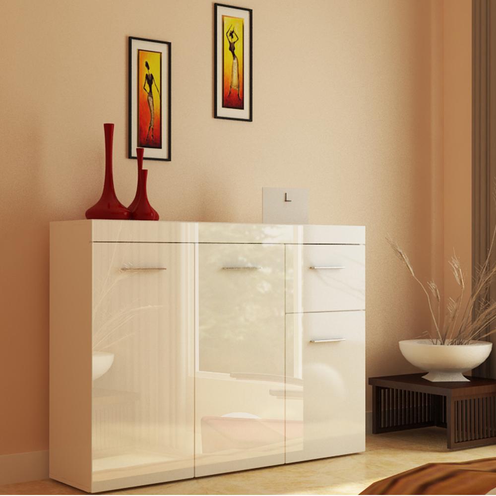 Mueble aparador c moda moderno brillante ebay for Comoda mueble