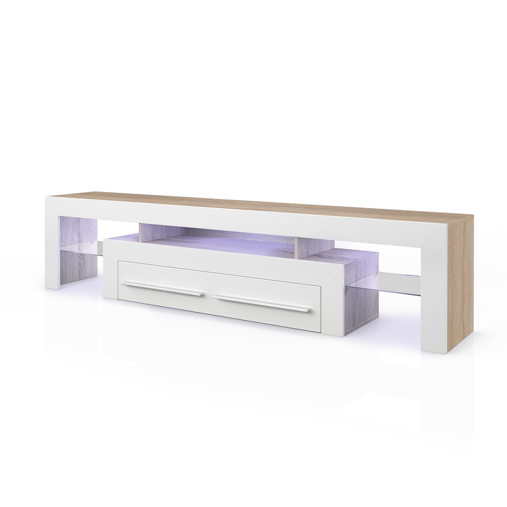 Eclairage led pour meuble tv maison design for Meuble bas tv led