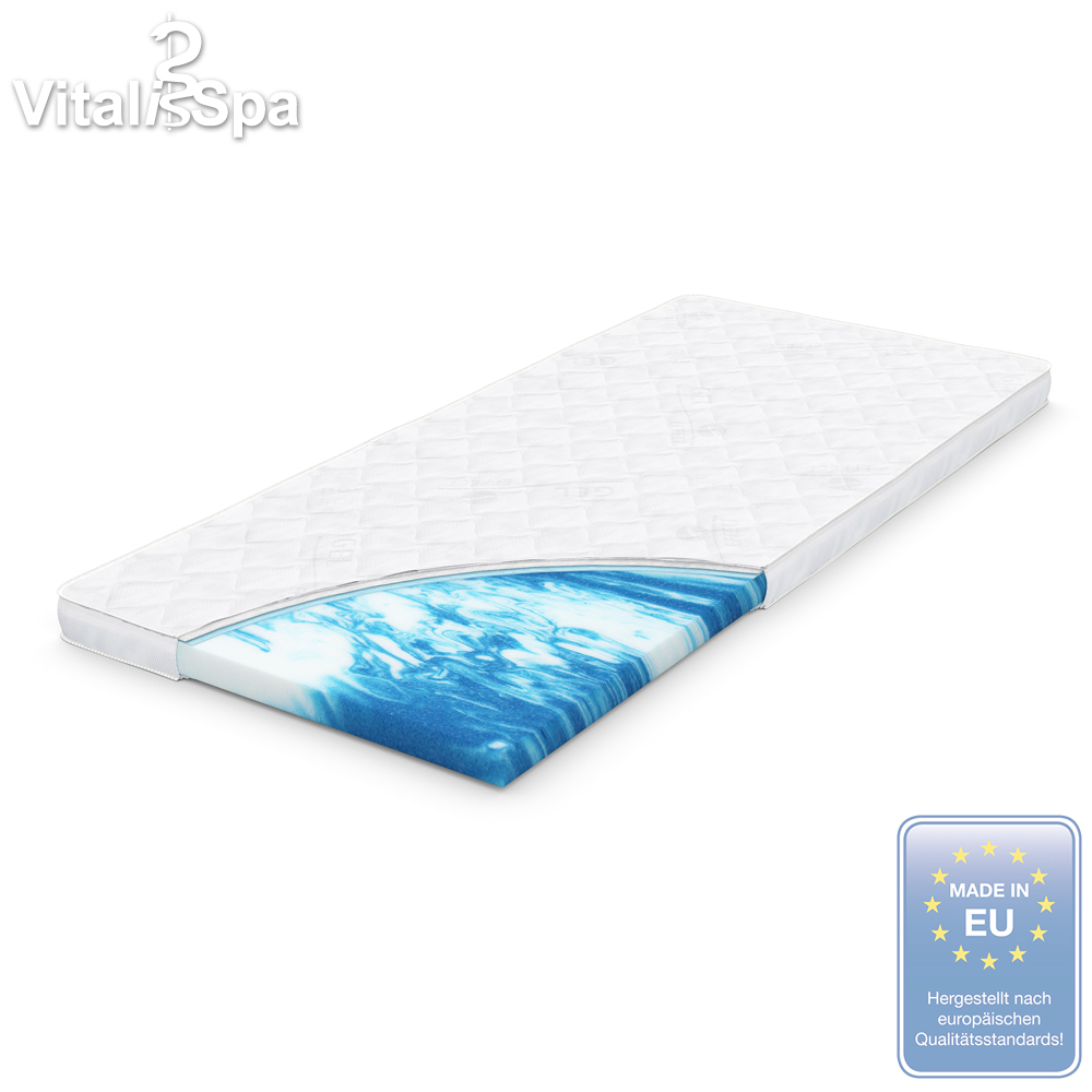 vitalispa gel foam topper mattress pad formfit foam. Black Bedroom Furniture Sets. Home Design Ideas