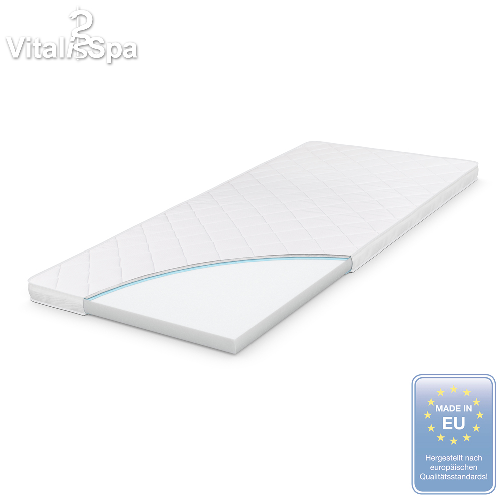 vitalispa elastic foam overlay mattress foam topper mattress pad 160x200 ebay. Black Bedroom Furniture Sets. Home Design Ideas