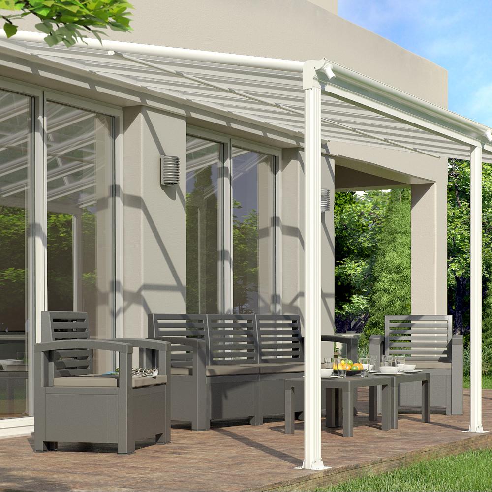Toit terrasse Pergola en aluminium Auvent de terrasse Véranda Carport