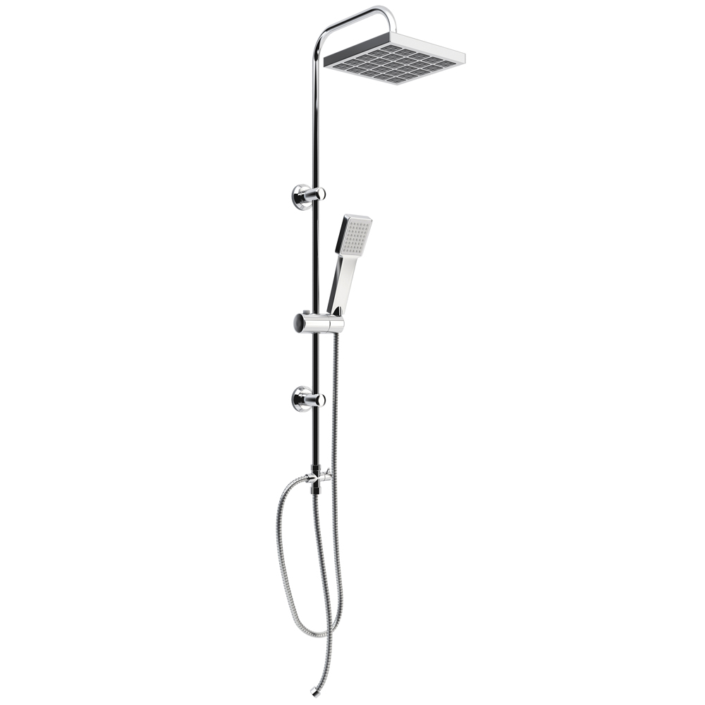 set de douche de douche douchette pomme de douche effet pluie panneau de douche ebay. Black Bedroom Furniture Sets. Home Design Ideas