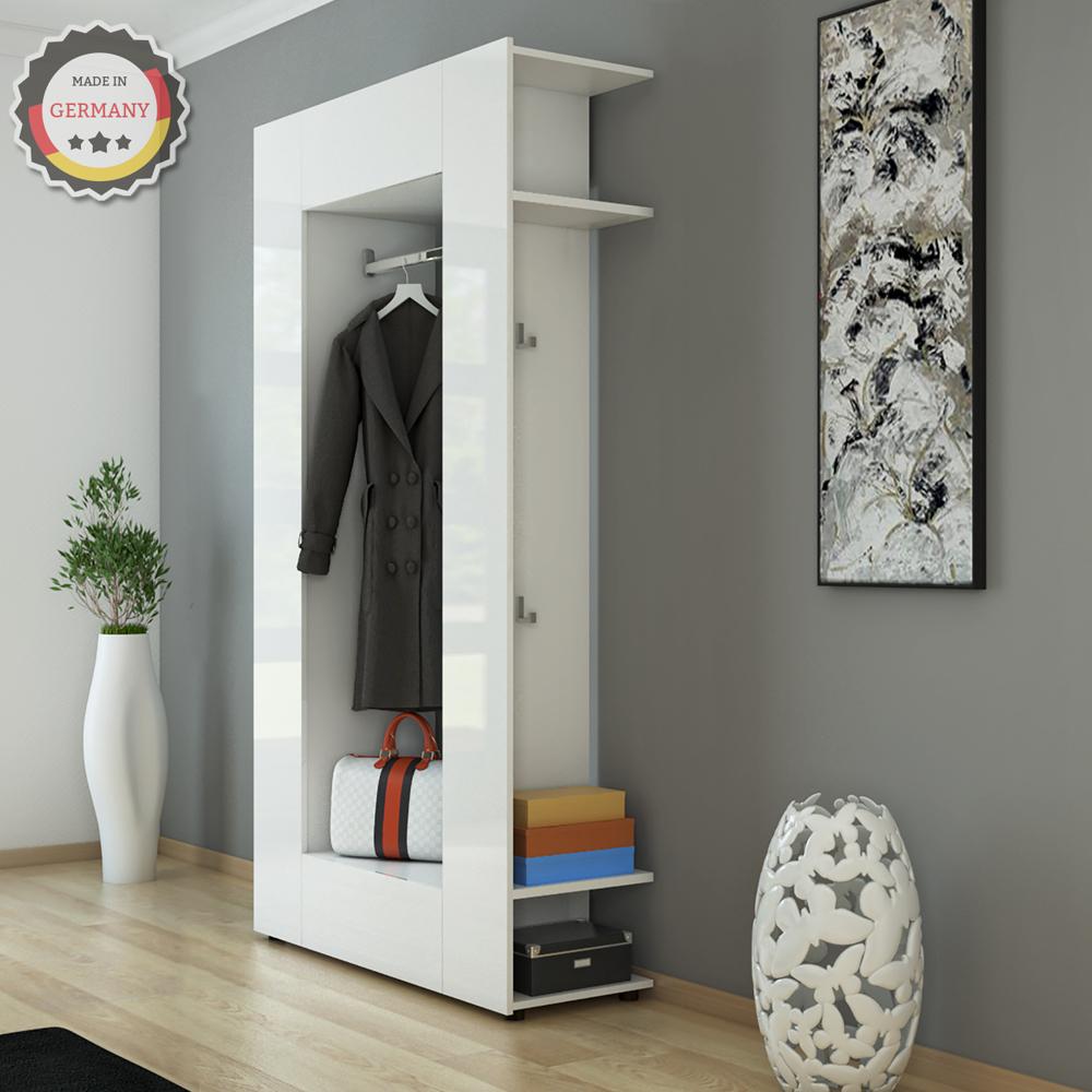 guardaroba armadio a muro scaffale pannello ingresso mobile scarpiera bianco ebay. Black Bedroom Furniture Sets. Home Design Ideas