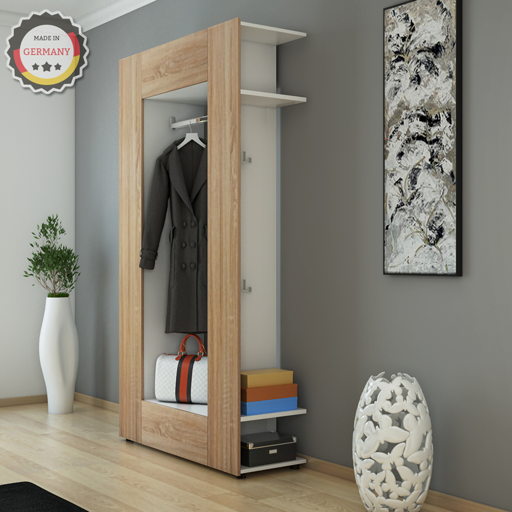 vestiaire armoire d 39 entr e murale tag re chaussures. Black Bedroom Furniture Sets. Home Design Ideas