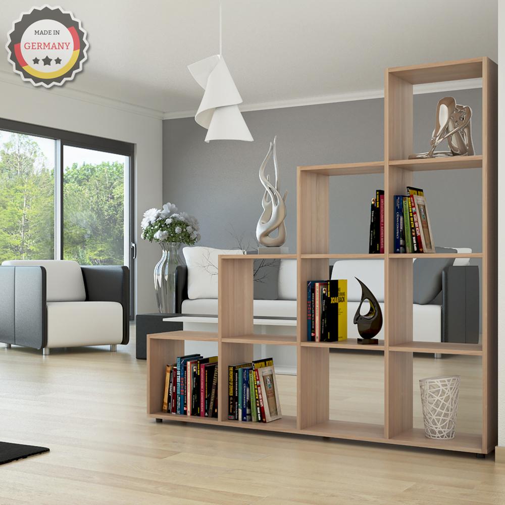 shelf staircase room divider shelf rack bookcase filing shelf standing sonoma 10 ebay. Black Bedroom Furniture Sets. Home Design Ideas