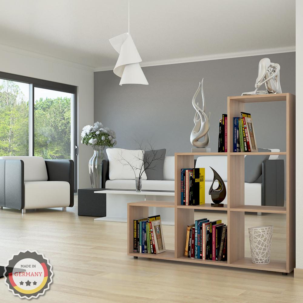shelf staircase room divider shelf rack bookcase filing shelf standing sonoma 6 ebay. Black Bedroom Furniture Sets. Home Design Ideas