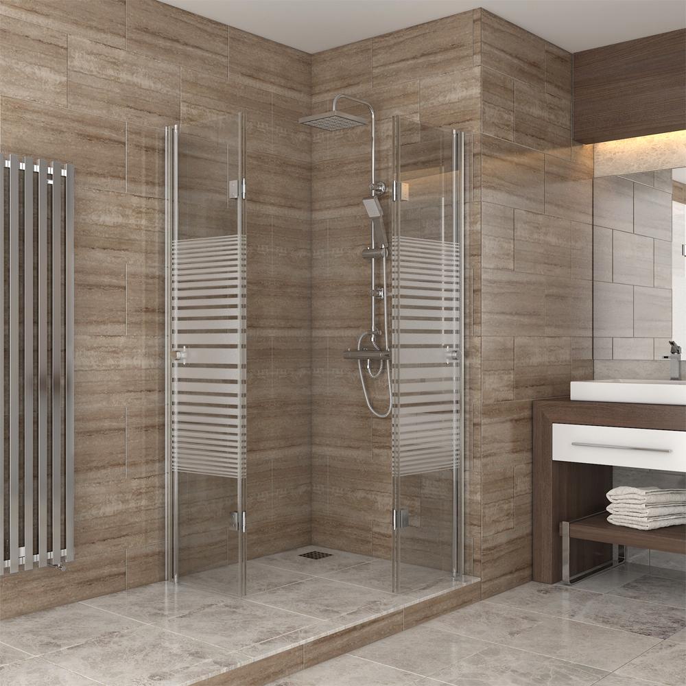 Douche cabine de douche porte pliante cloison de doucheacc s d 39 angle 80x80 ray - Cloison de douche ...