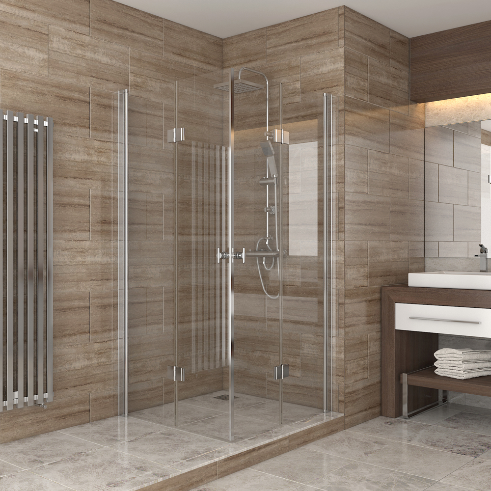 douche cabine de douche porte pliante cloison de doucheacc s d 39 angle 100x100 ebay. Black Bedroom Furniture Sets. Home Design Ideas