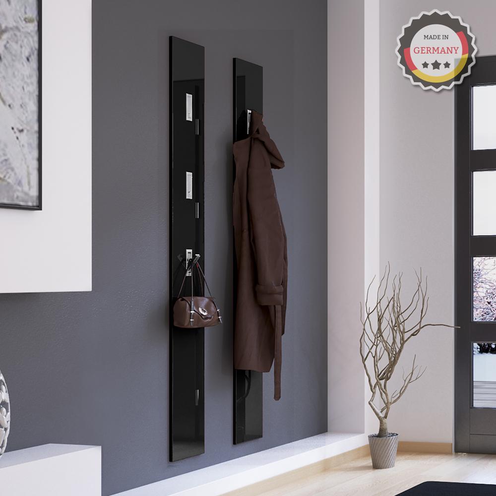 panel pared gancho abatible perchero pasillo colgante negro ebay. Black Bedroom Furniture Sets. Home Design Ideas
