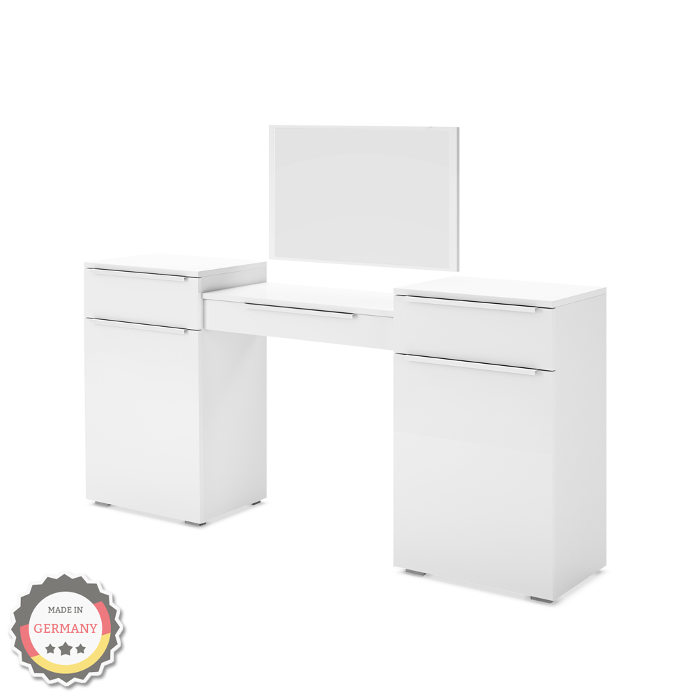 coiffeuse design coiffeuse set de maquillage commode avec miroir blanc ebay. Black Bedroom Furniture Sets. Home Design Ideas