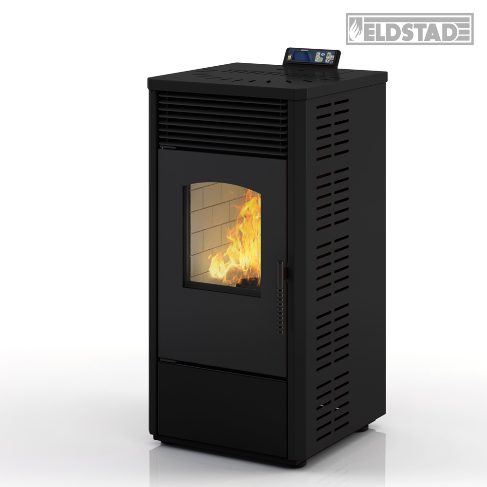 eldstad pellet stove 10 9 kw pellet heating stove heater oven antracite ebay. Black Bedroom Furniture Sets. Home Design Ideas