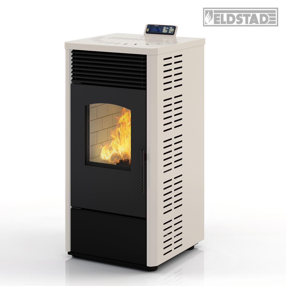 eldstad pellet stove 10 9 kw pellet heating stove heater oven white ebay. Black Bedroom Furniture Sets. Home Design Ideas