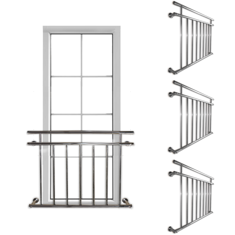 3x set juliet balcony railing balustrade french rod for French balcony railing