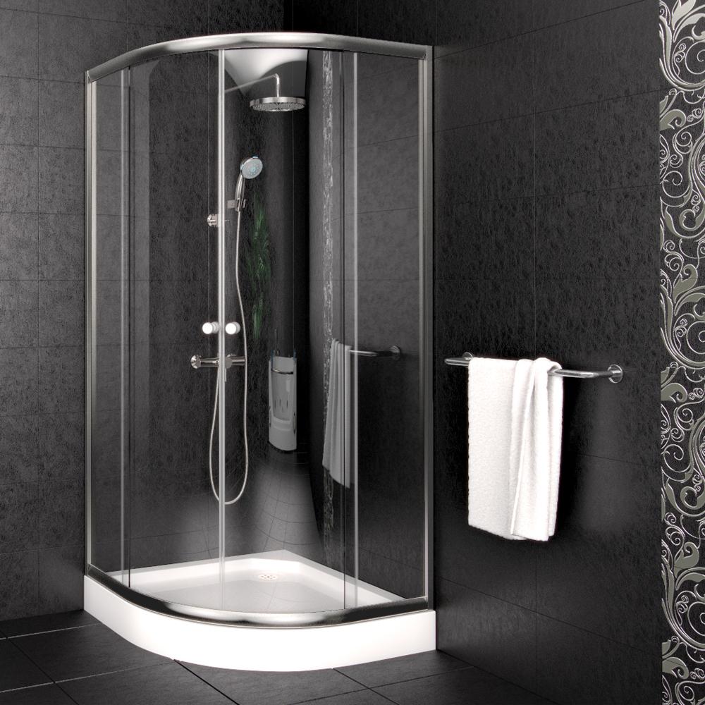 Cabine de douche receveur cloison bac de douche douche 90x90 cm en quart de r - Cabine de douche sans bac ...