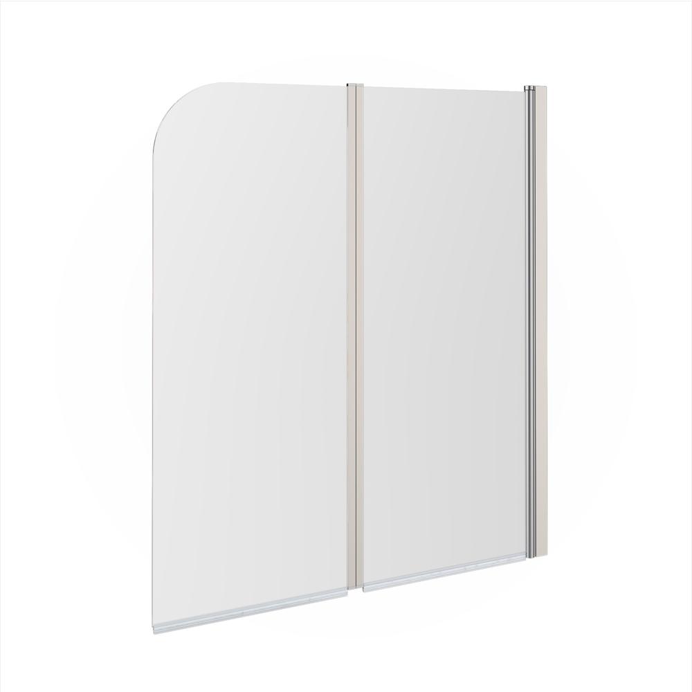 Panel puerta de cristal plegable ducha mampara de ba o cabina 2 alas derecha ebay - Puerta plegable bano ...