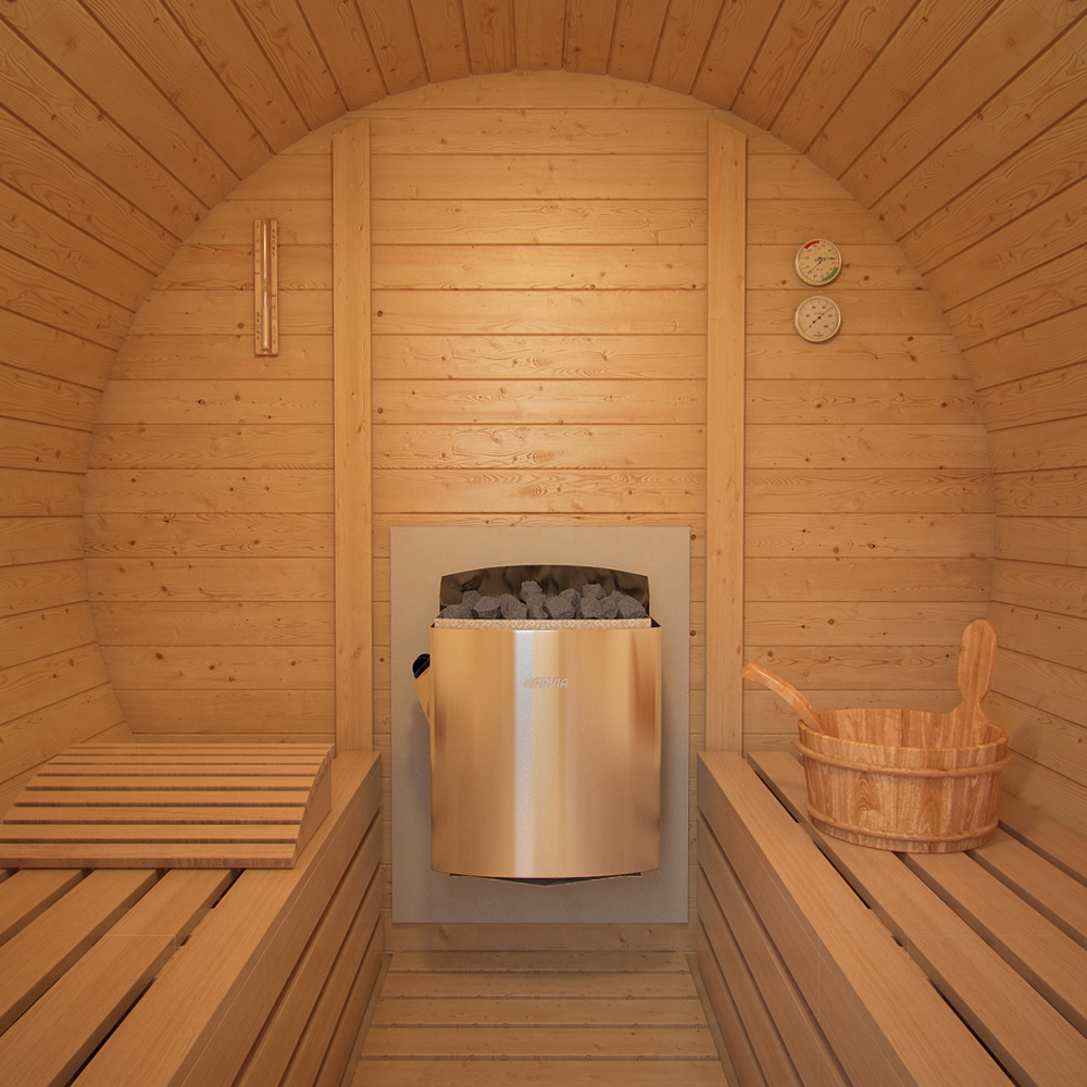 ISIDOR Sauna a botte K1 Premium 2.12m sauna esterna sauna da ...