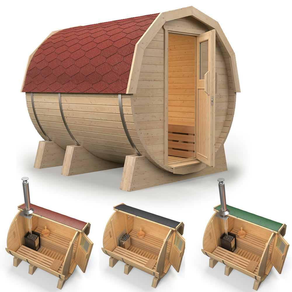 isidor sauna baril k1 premium sauna baril sauna ext rieur sauna de jardin ebay. Black Bedroom Furniture Sets. Home Design Ideas