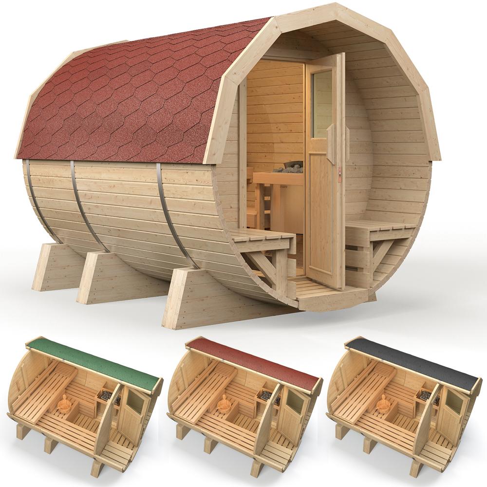 isidor sauna a botte k2 deluxe sauna esterna sauna da giardino ebay. Black Bedroom Furniture Sets. Home Design Ideas