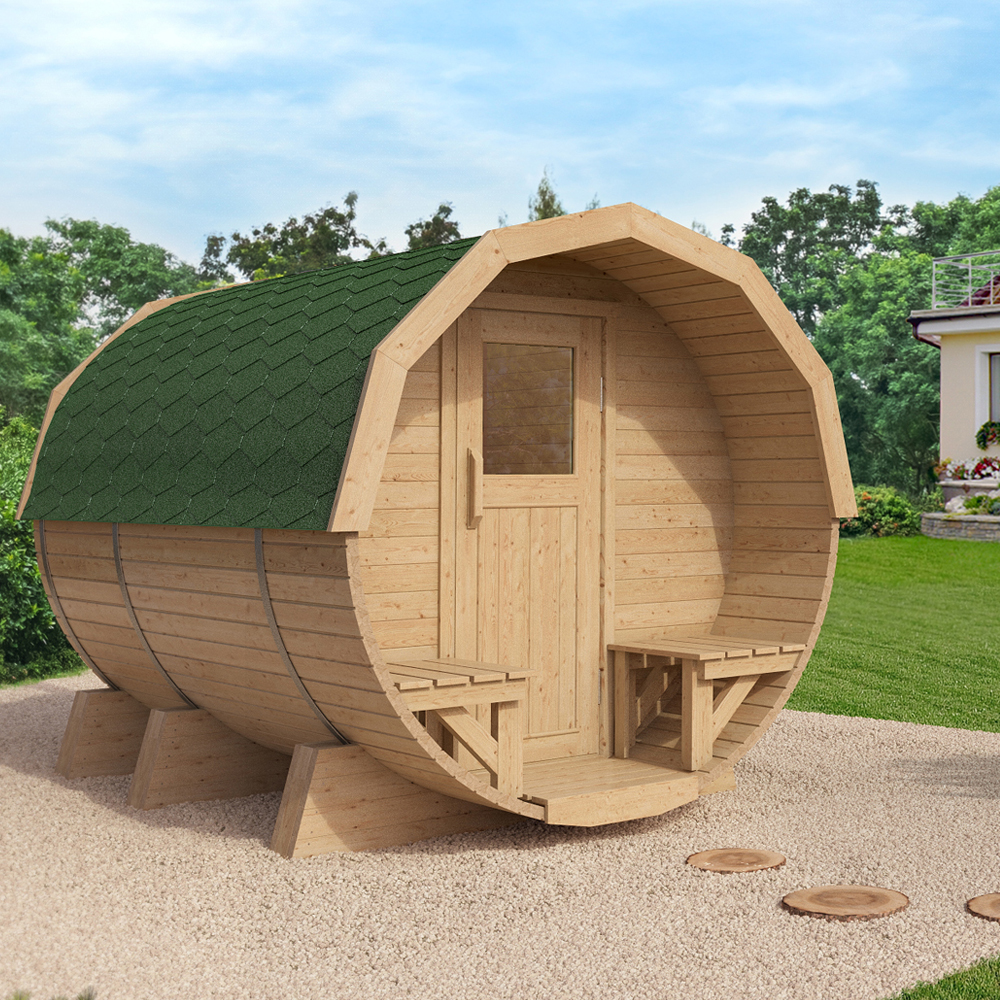 isidor sauna baril k2 deluxe sauna baril sauna ext rieur sauna de jardin ebay. Black Bedroom Furniture Sets. Home Design Ideas