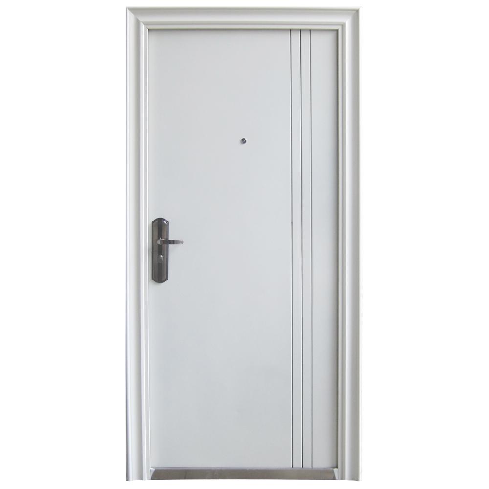 front door door apartment door security door white DIN left 960x2050