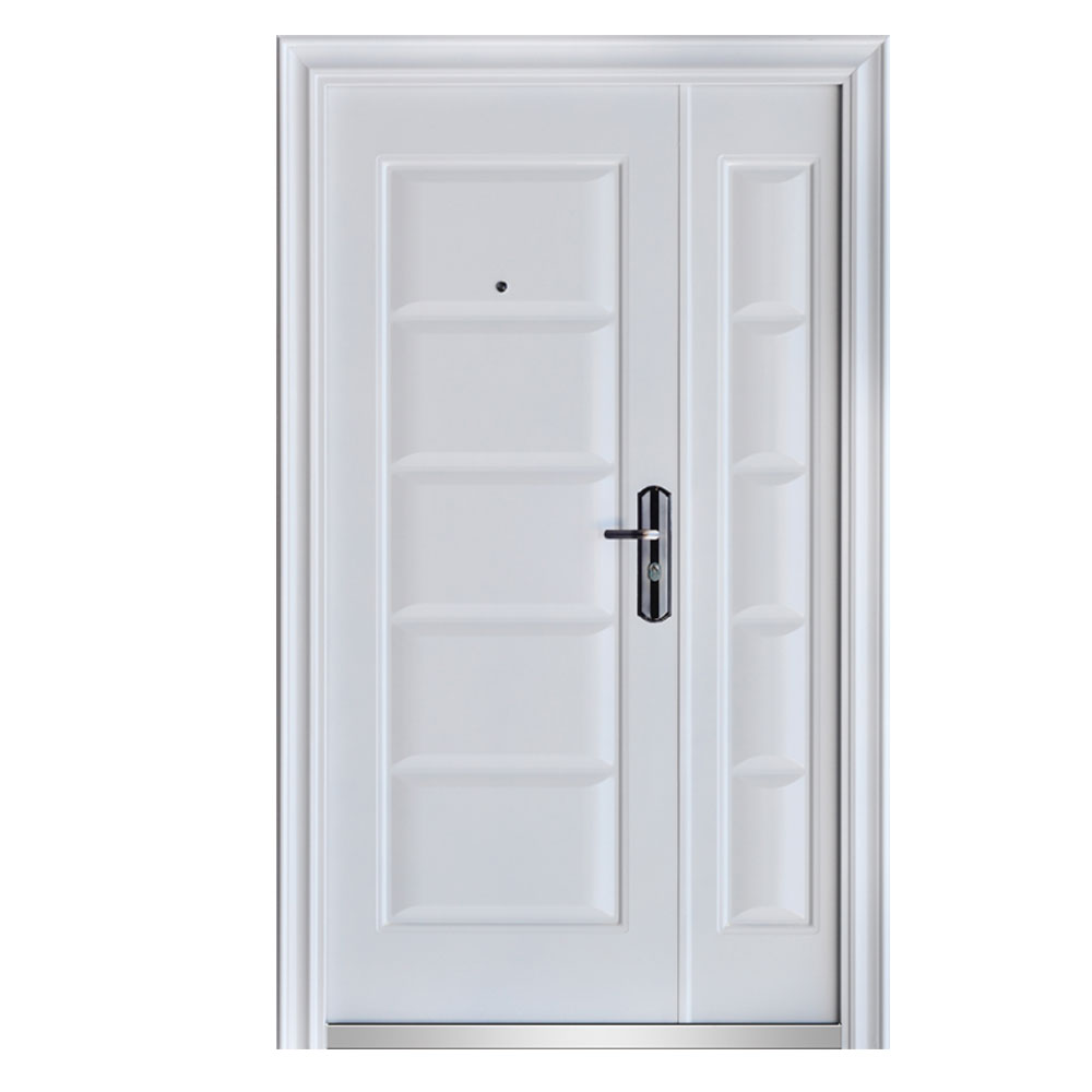 front door door apartment door security door 120x205 white DIN right ...
