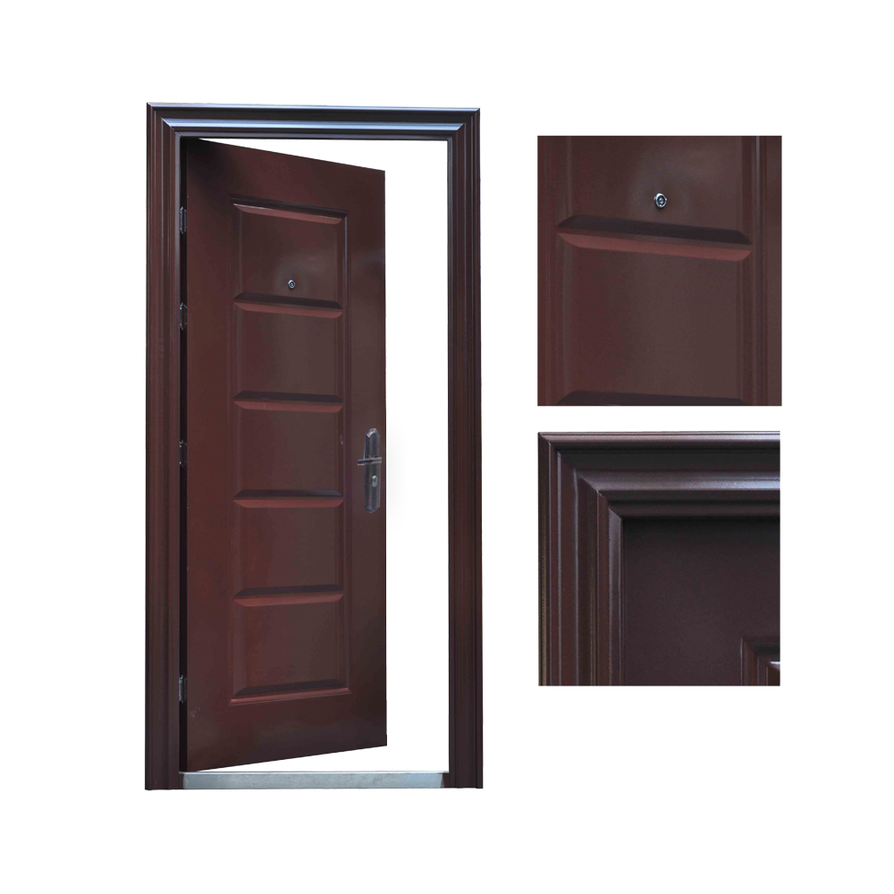 porte d 39 entr e porte porte d 39 entr e porte de s curit 96x205 brun din droite ebay. Black Bedroom Furniture Sets. Home Design Ideas