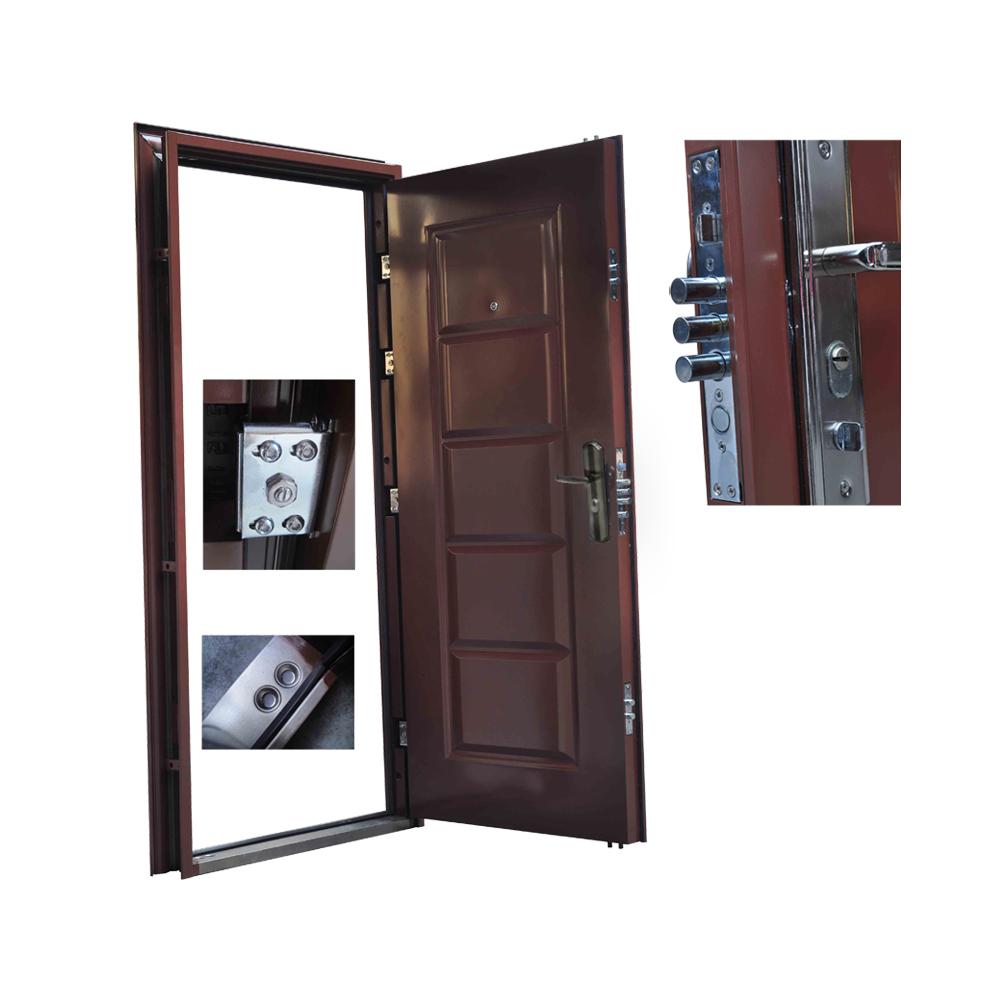 front door door apartment door security door 96x205 brown DIN right ...