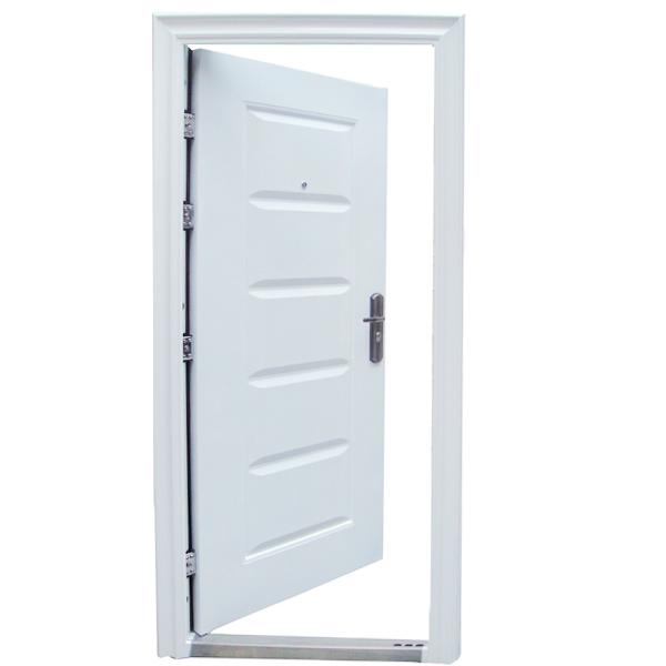porte d 39 entr e porte porte d 39 entr e porte de s curit 96x205 blanc din droite ebay. Black Bedroom Furniture Sets. Home Design Ideas