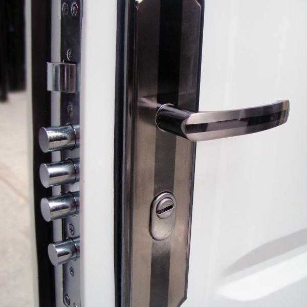 front door door apartment door security door 96x205 white DIN left ...