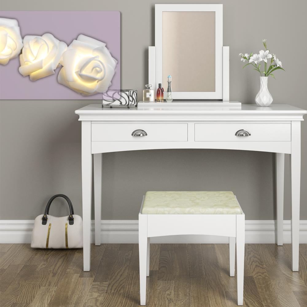 Toilette trucco toeletta sgabello tavolo toletta toeletta specchio belleford ebay - Toletta con specchio ...