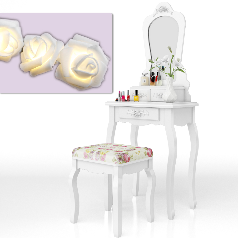 Toletta sgabello spogliatoio tabella di preparazione tavolo specchio principessa ebay - Toletta con specchio ...