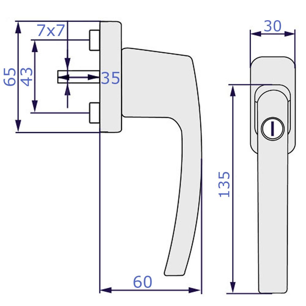 poign e de fen tre verrouillable poign e de fen tre de s curit s curit 10. Black Bedroom Furniture Sets. Home Design Ideas