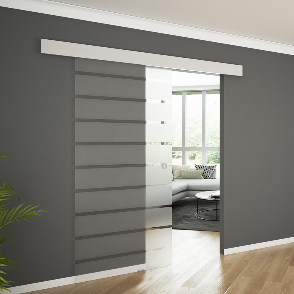 Porta scorrevole in vetro scorrevole in vetro vetro porta copertura porta 900 ebay - Porta scorrevole con vetro ...