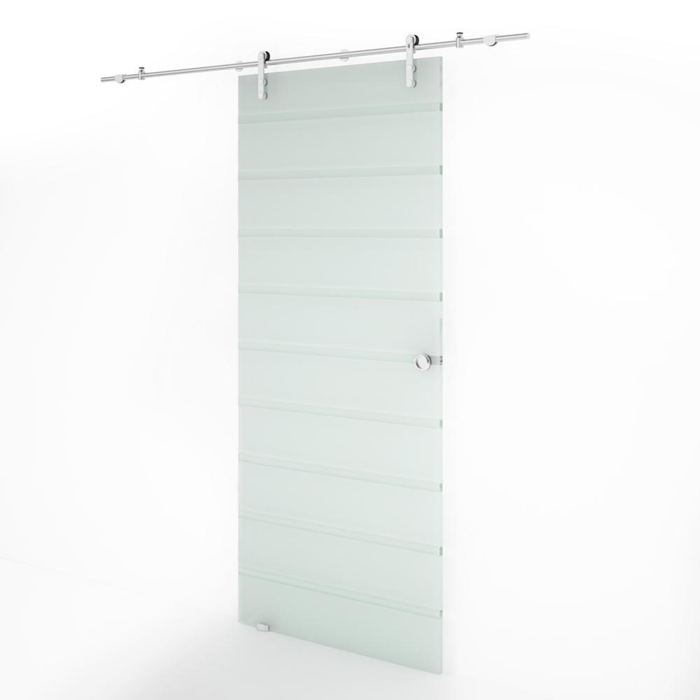 Puertas corredera cristal homcom puerta corredera de for Puertas baratas en barcelona