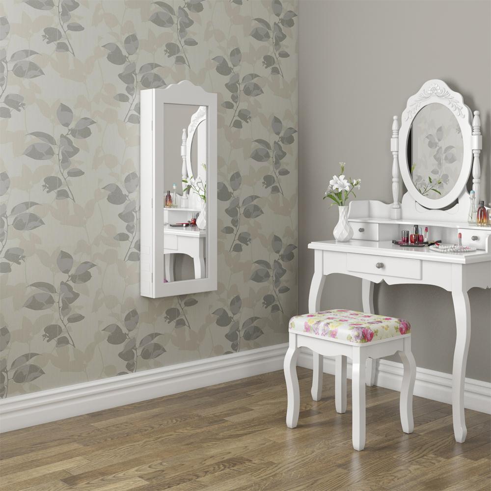 armoire glace armoire bijoux miroir mural blanc mur armoire petit ebay. Black Bedroom Furniture Sets. Home Design Ideas