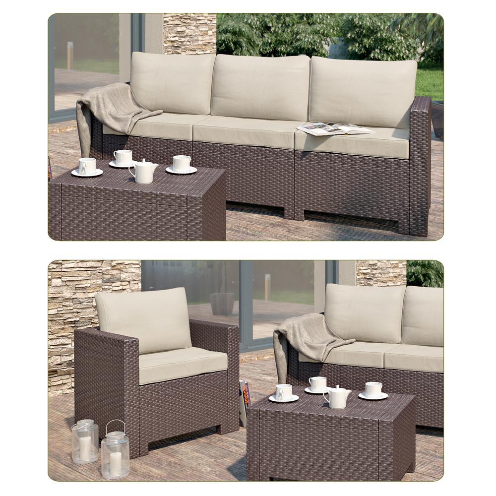 Mobili da giardino set lounge set da giardino divano sedia - Set da giardino ...