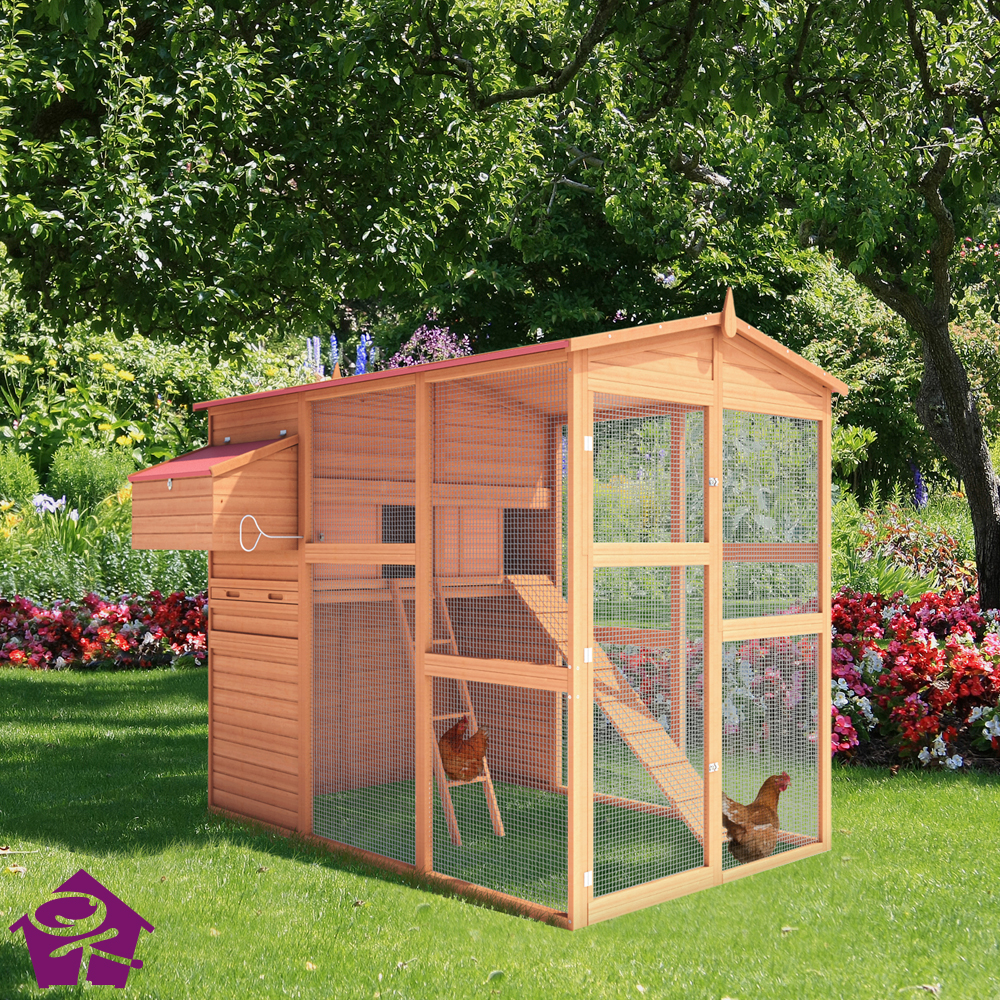 chicken coop poultry hen house cage rabbit hutch. Black Bedroom Furniture Sets. Home Design Ideas