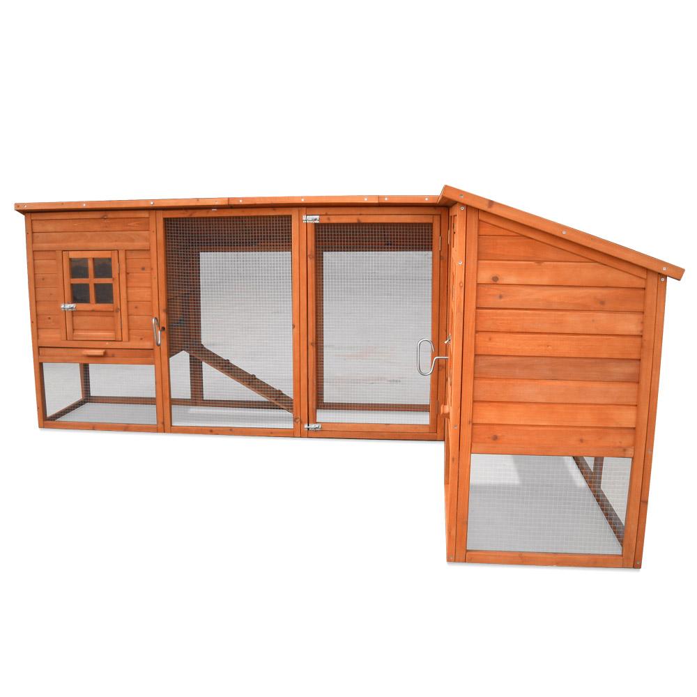 pollaio conigliera gabbia xxl 240x180 cm in legno