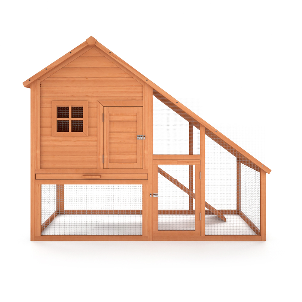 Wooden rabbit hutch pet house animal cage 2 floor xxl for Rabbit house images