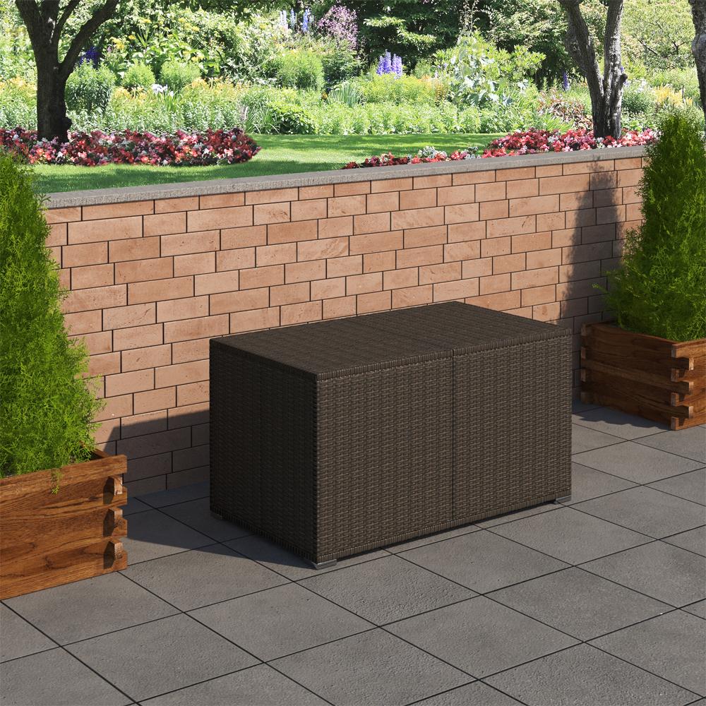 Contenitore per cuscini contenitore da giardino cassa da for Contenitore giardino