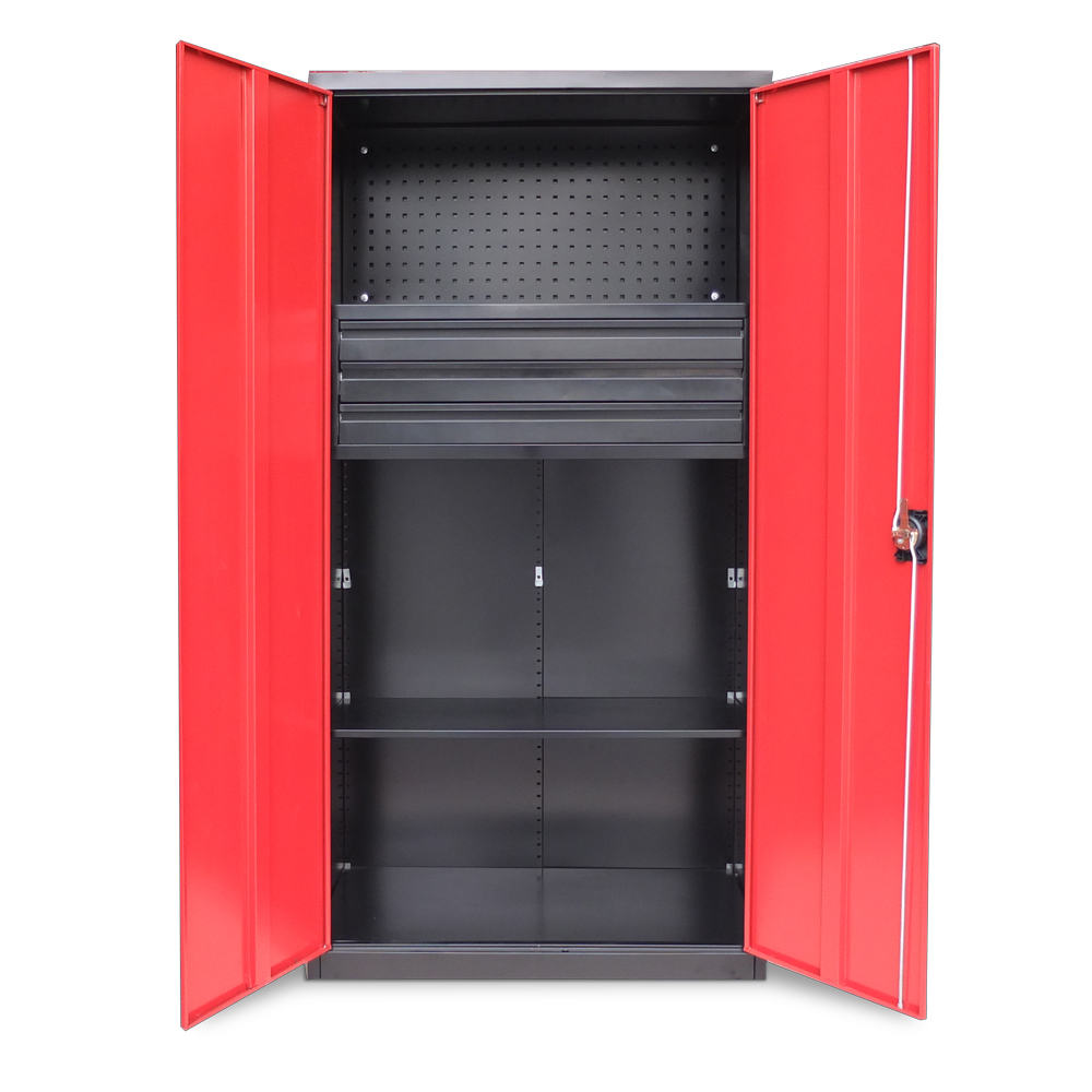 inclut armoire outils armoire d 39 atelier tiroirs 180 x 90 x 39 cm m tallique ebay. Black Bedroom Furniture Sets. Home Design Ideas