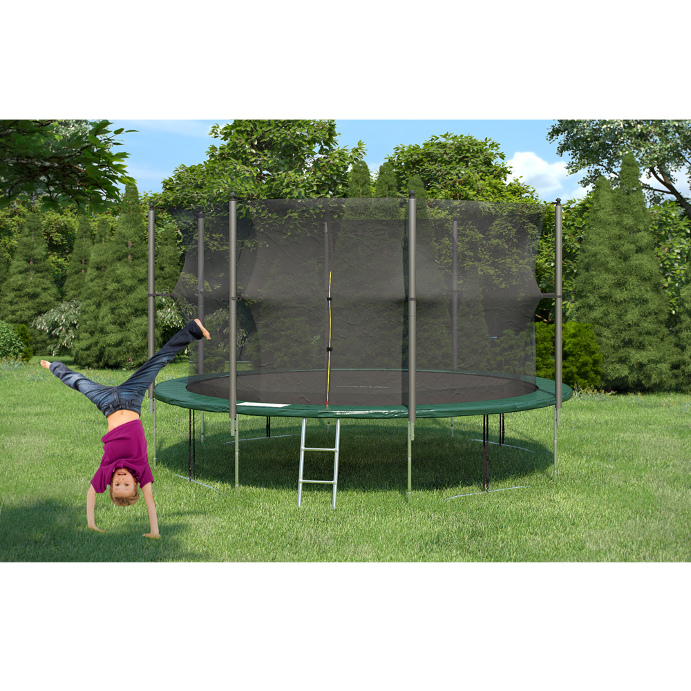 trampoline xxl de jardin set complet avec filet int rieur chelle 4 30 m ebay. Black Bedroom Furniture Sets. Home Design Ideas