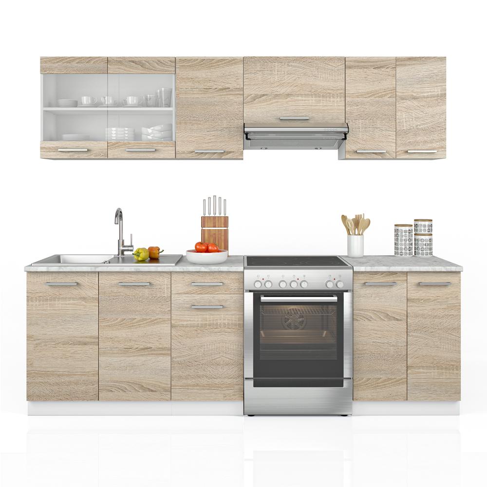 Cucina 240 cm cucina componibile cucina monoblocco cucina - Cucina all americana ...
